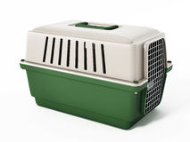 Pet carrier isolated on white background. 3D illustration Stock Photo