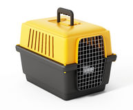 Pet carrier isolated on white background. 3D illustration Stock Photography