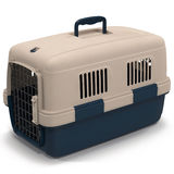Pet carrier for pet traveling  on white 3D Illustration Stock Photography