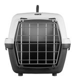 Pet carrier for traveling Royalty Free Stock Photo