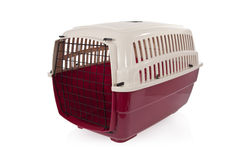 Pet carrier  on a white background Royalty Free Stock Photos
