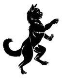 Pet Cat in Coat of Arms Rampant Heraldic Pose Royalty Free Stock Photography