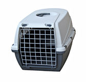 Pet cat dog carrier. Photo of a modern robust pet cat small dog carrier stock image