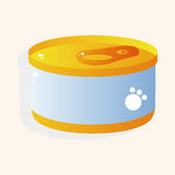 Pet cat food can theme element vector,eps10 Stock Images