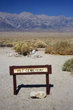 Pet Cemetery. Site of a pet cemetery in Manzanar National Historic Site Stock Image