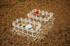 Pet Cemetery in the forest Royalty Free Stock Photo