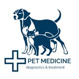 Pet clinic logo Royalty Free Stock Image