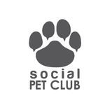 Pet club paw concept vector design template Stock Photos