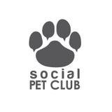 Pet club paw concept vector design template Stock Photos