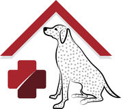 Pet dog care logo Royalty Free Stock Image