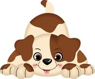 Pet Dog Playing. Scalable vectorial image representing a pet dog playing, isolated on white Royalty Free Stock Photo