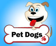 Pet Dogs Means Domestic Animal And Canine Stock Photography