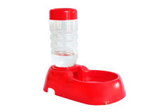 Pet Drinking Water Fountain and Bowl. Photo of a drinking water fountain bowl for pets like dogs and cats stock photography