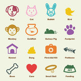 Pet elements. Vector infographic icons Royalty Free Stock Photos