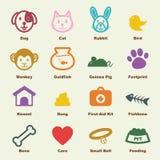 Pet elements Royalty Free Stock Photos