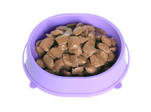 Pet food. Pet food in the bowl Royalty Free Stock Photography