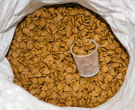 Pet food in the bag Stock Photo