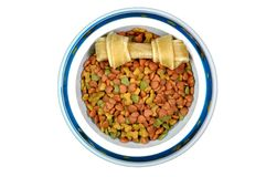 Pet food in bowl. Stock Photo