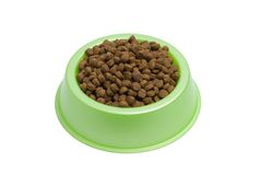 Pet Food Bowl Royalty Free Stock Images