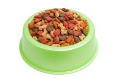 Pet Food Bowl Isolated White on Background stock image