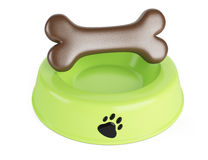 Pet food bowl Royalty Free Stock Photos