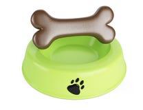Pet food bowl. On white background Royalty Free Stock Photos