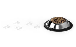 Pet food,Dog food,Animal footprints Royalty Free Stock Images