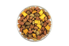 Pet food in a glass container Royalty Free Stock Photo
