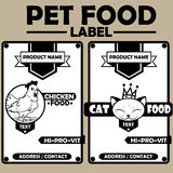 Pet Food Label Stock Photography