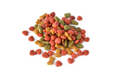 Pet food on white background. Royalty Free Stock Images