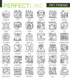 Pet friend outline concept symbols. Perfect Pet shop thin line icons. Modern stroke linear style illustrations set. Stock Photo