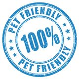 Pet friendly stamp royalty free illustration