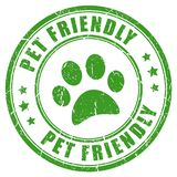 Pet friendly vector stamp royalty free illustration
