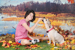 Pet Fun by the Water's Edge Royalty Free Stock Photo