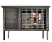 Pet Goblin in a Cage Royalty Free Stock Photo