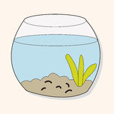 Pet goldfish bowl theme element vector,eps10 Stock Photos