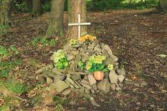 Pet grave Stock Photo
