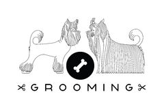 Pet grooming poster Royalty Free Stock Photo