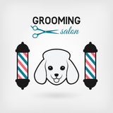 Pet grooming salon logo design Stock Photos
