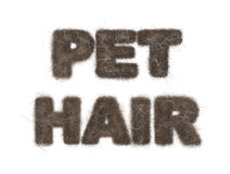 Pet Hair Text Illustration on White Royalty Free Stock Images