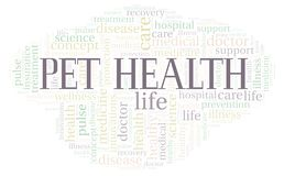 Pet Health word cloud. Wordcloud made with text only royalty free illustration
