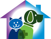 Pet home logo. Illustration art of a pet home logo with  background Stock Images