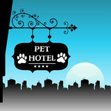 Pet hotel Royalty Free Stock Photography
