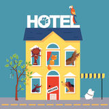 Pet hotel vector illustration