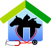 Pet house. Illustration art of a Pet house with isolated background Stock Photography