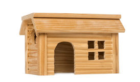 Pet house in front of white background Royalty Free Stock Photography