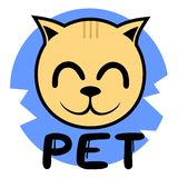Pet icon cat Stock Photos
