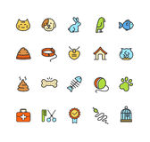 Pet Icon Colorful Set. Vector Stock Images