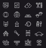 Pet icon set Stock Images