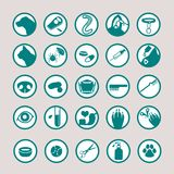 Pet medical icon set. Pet icon set for vets, groomers, pet hotels, or any pet service jobs Stock Photos